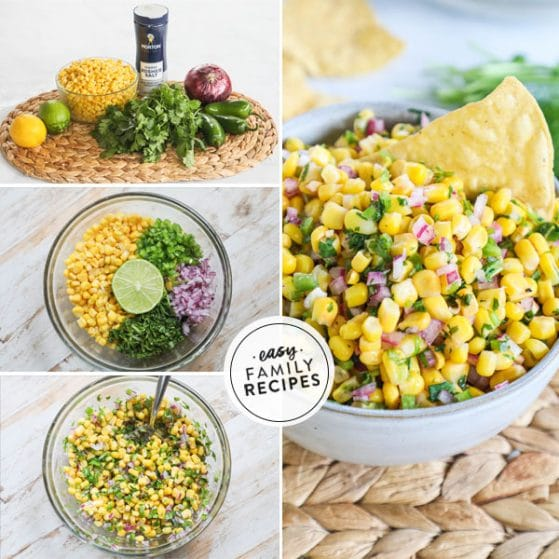 Steps for making corn salsa recipe from chipotle