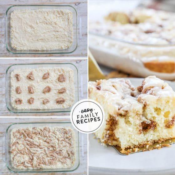 Step by step how to make cinnamon swirl cake