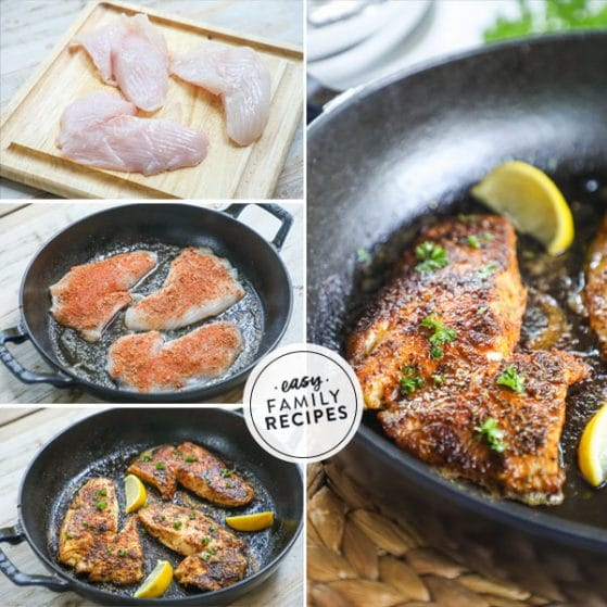Step by step how to make blackened fish
