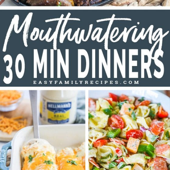 5 easy dinners that can be made in 30 minutes