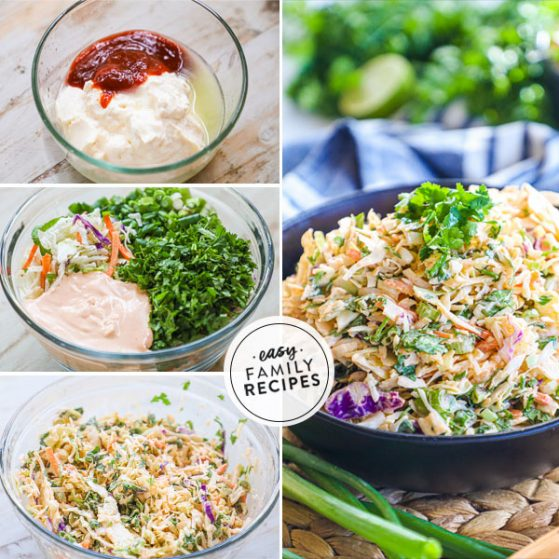 step by step for making spicy coleslaw