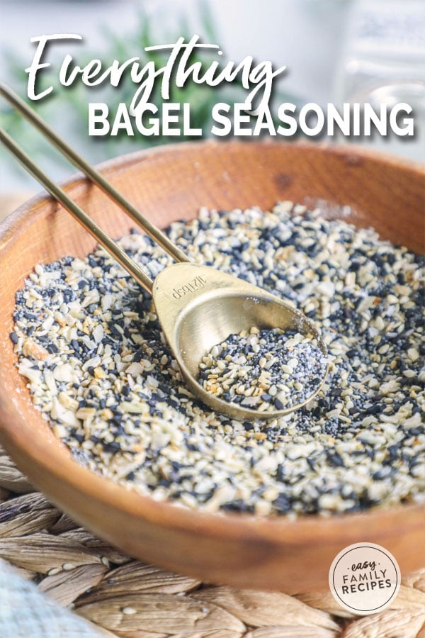 Homemade Everything Bagel Seasoning mixed in a bowl