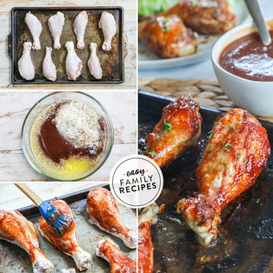 Step by step for making barbecue chicken drumsticks in the oven